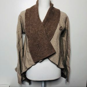 Anthro Aida asymmetrical cardigan sweater S